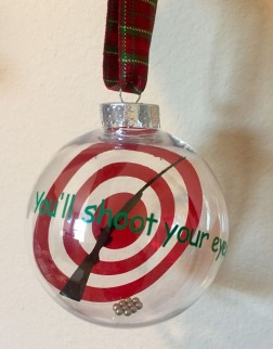 created designs on CDS, wording on the outside, bb's in bottom of ornament