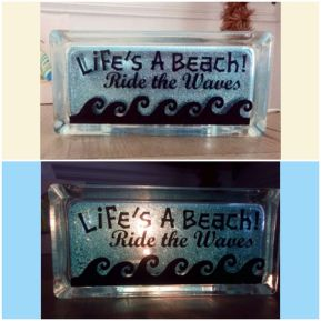 Diy Lighted Glass Block My Florida Life