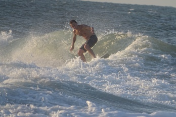 Surfer at Vilano