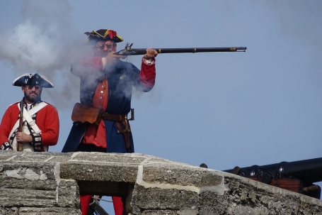 Musket demonstration at the Fort