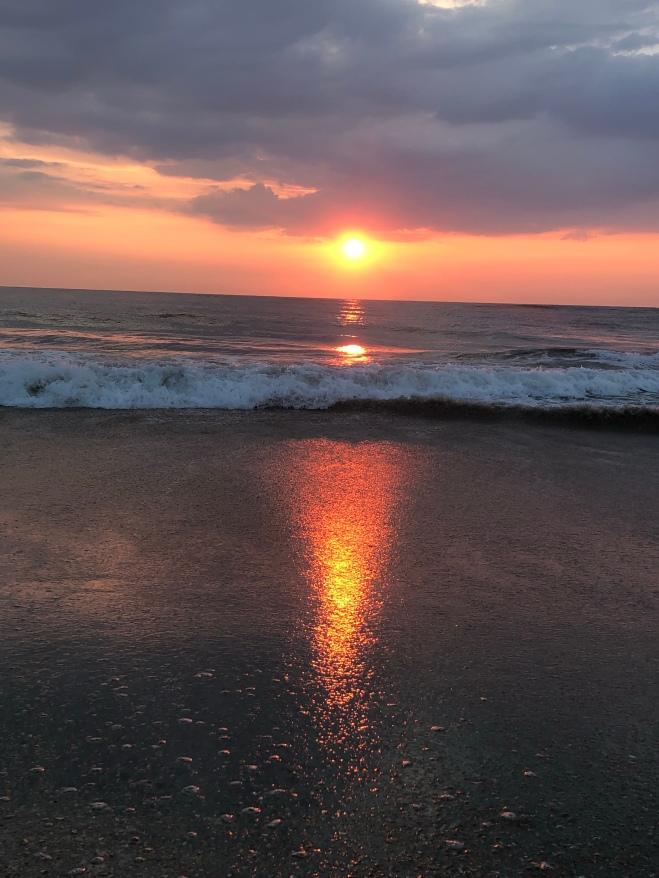 Heart reflection, sunrise at Vilano