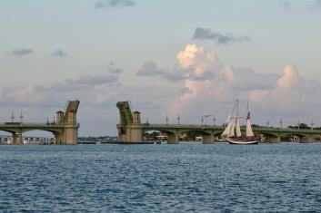 Lion's Bridge opening up for the Schooner Freedom